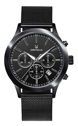 Orphelia Herren Chronograph Quarz Uhr mit Edelstahl Armband OR82804