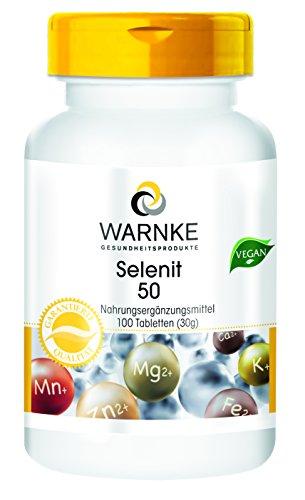 Selen Tabletten - 50µg Selen pro Tablette - vegan - aus Natriumselenit - hefefrei - 100 Tabletten