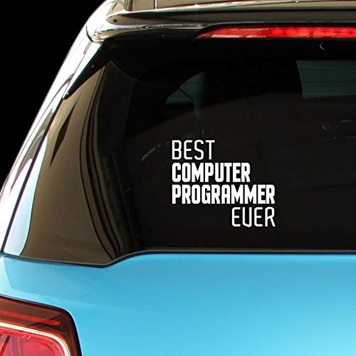 PressFans - Best Computer Programmer Ever Car Laptop Wall Sticker