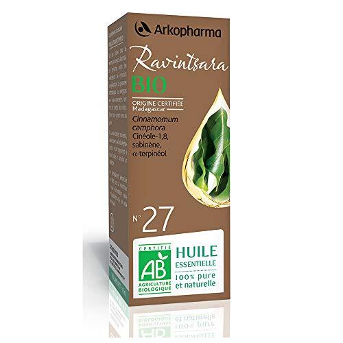Arkopharma, Olio Essenziale biologico di Ravintsara (Cinnamomum Camphora) n°27, 5 ml