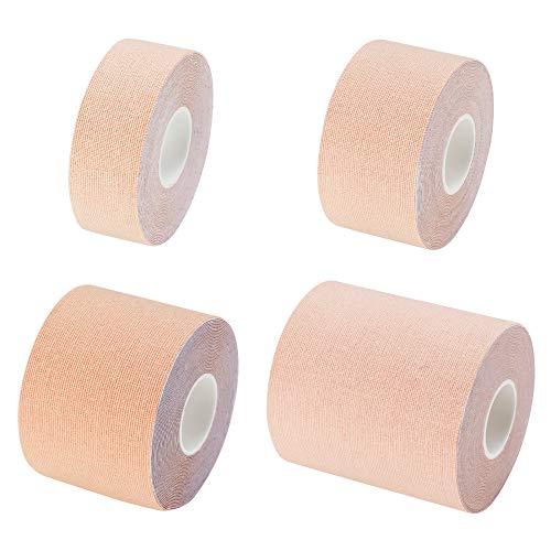 キネシオ ロジー テープ 5cm × 5m 6巻入 ベージュ 肌色 伸縮 タイプ 筋肉 テーピング 関節 ふくらはぎ 膝 太もも サポート 50mm テーピングテープ 筋肉テープ 固定 サポーター テーピング 箱売り セット品 業務用