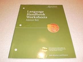 Language Handbook Worksheets Answer Key (Elements of Literature, 1st Course)
