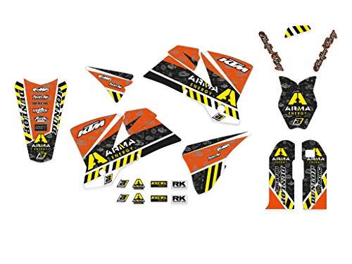 Kit adesivi grafiche K.t.m. Exc Sxf Exc f Sx 125 250 300 400 450 520 525 2001 2002 2003 2004 set stickers in Crystall Arma plastiche e parafanghi