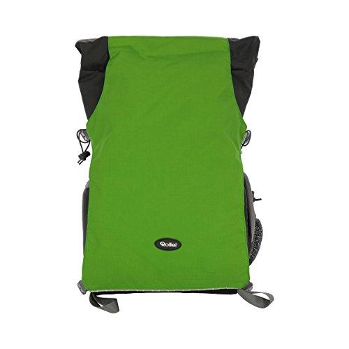 Rollei Traveler Backpack Canyon L - Mochila para cámara profesional para aire libre, incl. Inserto separado para equipo de cámara - Tamaño L (35 Litros) - Forest (Gris/Verde)