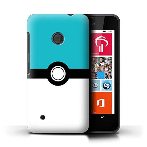 Hülle Für Nokia Lumia 530 Pokeball Anime Inspiriert Blau Design Transparent Ultra Dünn Klar Hart Schutz Handyhülle Hülle