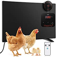 【Visible Temperature Display and Remote Control】 Unique visualized temperature display design and remote control (remote and battery included) helps you easily see and adjust the temperature without entering chicken coop. The temperature adjustment r...