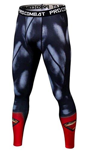 A. M. Sport Mallas Running Hombres para Entrenar y Correr. Mallas compresivas Cody. (Monkey) - M