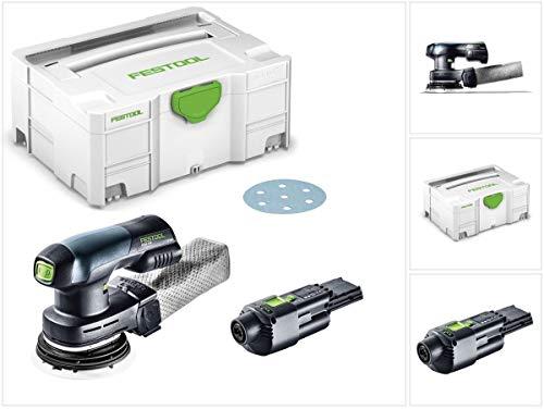 ETSC 125 18 V Ponceuse excentrique hybride sans fil 125 mm brushless + Boîtier Systainer + 1x Adaptateur ACA 220-240/18V Ergo de Festool