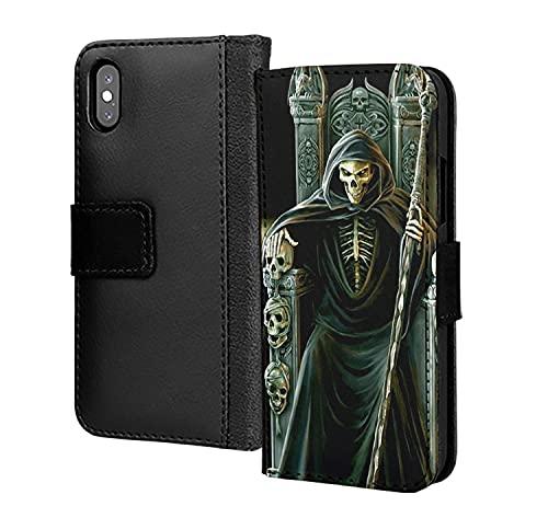 Skull Leader Skeletor PU cuero cartera en tarjeta teléfono caso cubierta para Samsung Galaxy S7 borde