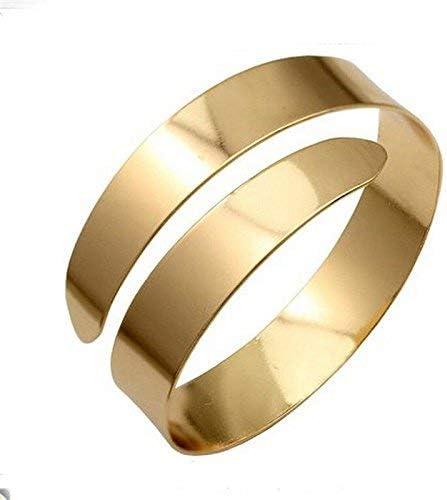 Nongkhai shop New Egypt Cleopatra Swirl Snake Upper Arm Cuff Armlet Armband Bangle Bracelet Color Gold