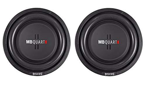 MB Quart DS1-204 8 Inch 400 Watt MAX 200 Watt RMS 4 Ohm Dual Voice Coil, Shallow Slim Subwoofer Speaker Pair for Car Audio Sound System