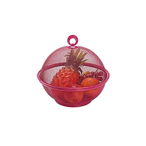 Cocina colador colador de plástico de Drenaje Cesta Que se Lava Cesta Vegetal Cesta de Almacenamiento con Tapa for Frutas Vegetales de Limpieza (Color: Verde) plm46 (Color : Red)