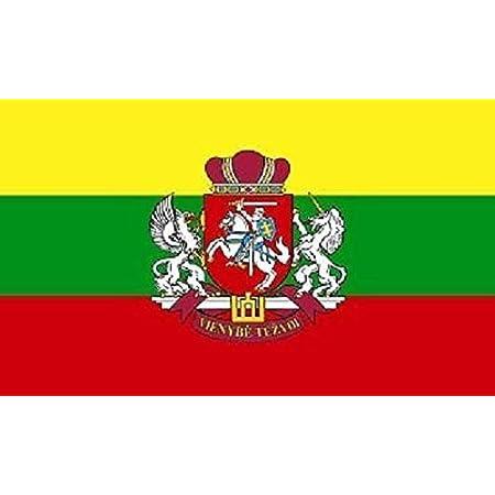 U24 Aufkleber Litauen Mit Wappen Flagge Fahne 8 X 5 Cm Autoaufkleber Sticker Auto