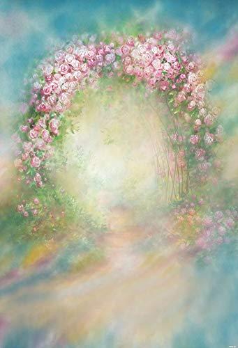 Fondo de fotografía Abstracta Pintura al óleo Flores Retrato Maternidad cumpleaños recién Nacido bebé Foto Estudio telón de Fondo A10 10x7ft / 3x2,2 m