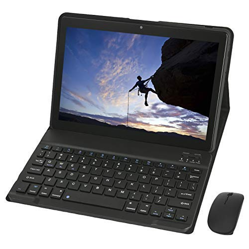 KISEDAR Tablet 10 pollici Android 9.0 4 GB RAM 64 GB Tablet Quad Core sbloccato adatto per telefoni cellulari 3G, slot per scheda SIM con due fotocamere, Bluetooth, GPS, Wi-Fi, colore: nero