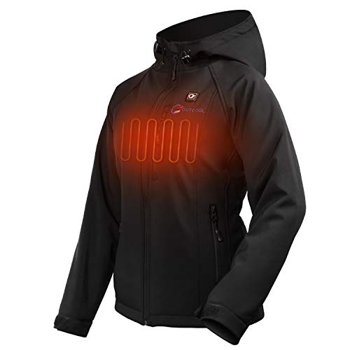 OUTCOOL Women's Heated Jacket with Hood Slim-Fit Heating Jacket (Type: NJK1901)(L)