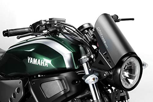 XSR700 2015/20 - Windschutzscheibe 'RunBack' (R-0780) - Aluminium Windschild Windabweiser Scheibe - Hardware-Bolzen Enthalten - Motorradzubehör De Pretto Moto (DPM Race) - 100% Made in Italy