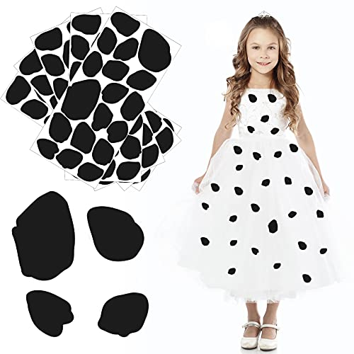 216 Pieces Black Messy Dots Adhesive Circles Black Dot Stickers Self-Adhesive Black Dots Label Assorted Sticky Dots Black Circle Stickers for Halloween Costume DIY Projects Party Supplies Art Craft