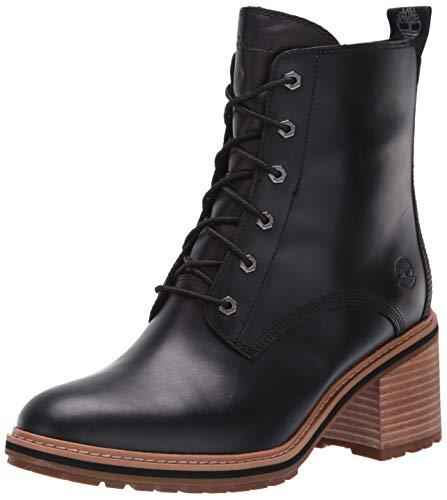 Timberland Women's Sienna High Waterproof Side Zip Boot Fashion, Black Full Grain, 8.5 M US