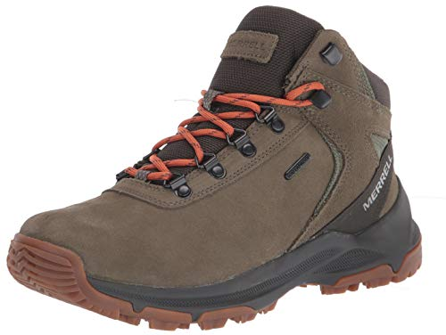 Merrell mens Erie Mid Wp Hiking Boot, Olive, 10.5 Wide US