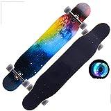 Monopatín Longboard de Osprey Trucos del flash de la rueda Freestyle Longboard Skateboard Patín Street cepillo crucero for adolescentes principiantes de chicas adolescentes de los muchachos for niños