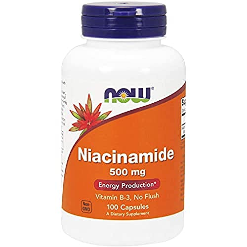 Now Foods, Niacinamide, 500 mg, 100 Cápsulas, sin soja, sin gluten