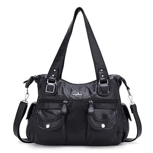 Purses&Handbag Waterproof Cross Body Shoulder Purse Bag Tote-Handbag for Women (black)