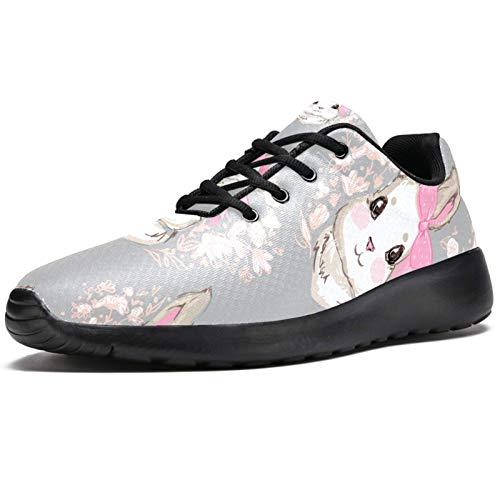 LORVIES - Zapatillas de deporte para hombre, diseño de conejo, color rosa, (multicolor), 40 EU