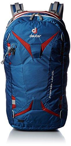 DEUTER Unisex-Erwachsene Freerider Lite 25 Rucksack, Blau (Ocean/Fire), 24x36x45 centimeters