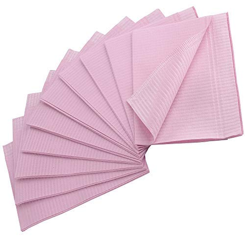 UPGRADED Pink Dental Bibs, 3 Ply Waterproof Bibs 13