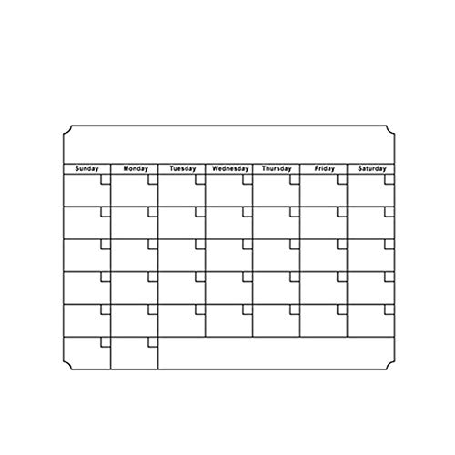 Delleu Smart Planner's Monthly Magnetic Refrigerator Board Menu Planner,Dry Erase Board Fridge Calendar