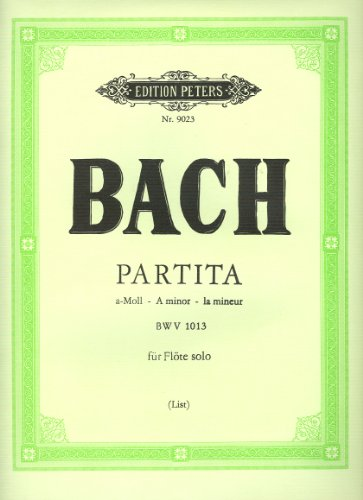 BACH - Partita en La menor (BWV:1013) para Flauta (Urtext) (