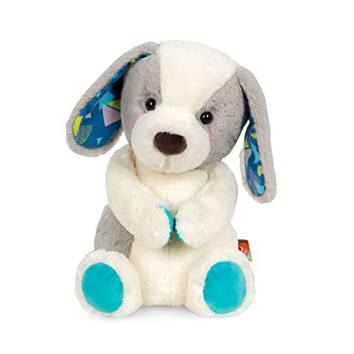 B. toys by Battat Happy Hues – Candy Pup – Huggable Dog Stuffed Animal Toy – Soft & Cuddly Plush Puppy – Washable – Newborns, Toddlers, Kids, Multi, 12 inches