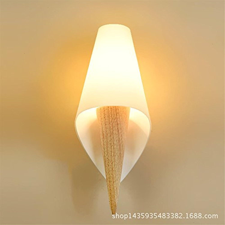 Firsthgus Hlzerne Wandleuchte führte Schlafzimmer-Nachttischlampe Gang-Wandlampe 13X33Cm