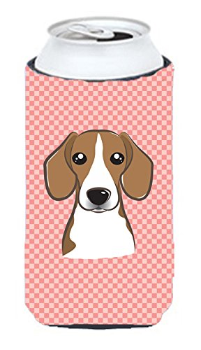 Checkerboard Rose Beagle Tall Boy Koozie Hugger Bb1239tbc