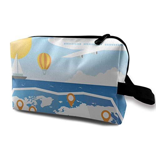 Cartoon Summer Holiday Travel Small Travel Toiletry Bag Super Light Toiletry Organizer for Overnight Trip Bag