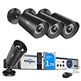 【5MP H.265+】 Hiseeu Wired Security Camera System,8CH 5MP Surveillance DVR with 4Pcs 5MP Waterproof Indoor/Outdoor Security Camera,Face&Human Detection,24/7 Day/Night Recording,Free APP,1TB Hard Drive