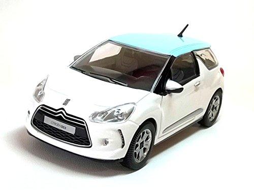 Burago BU22122W Citroen DS3 2010 White/Azur 1:24 MODELLINO Die Cast Model Compatibile con