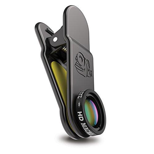 BLACK EYE HD Macro 15-faches Makro-Objektiv für alle gängigen Smartphones vor 2018 (Universelle Clip-Befestigung, 2-Fach beschichtetes Glas, Funktioniert mit DualCams)