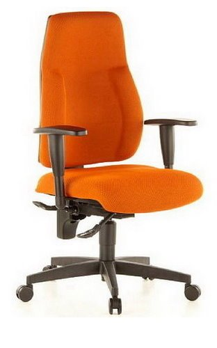 Topstar Wellnessstuhl/Bürostuhl Lady SITNESS C AL.K2 Stoff orange