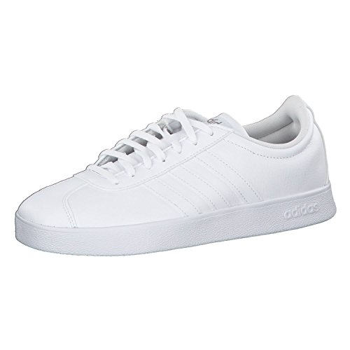 adidas Damen VL Court 2.0 Fitnessschuhe, Weiß (Ftwbla/Ftwbla/Ciberm 000), 40 EU