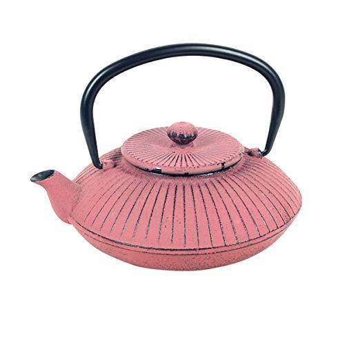 Vidal Regalos Tetera con Filtro Infusor 0,5L Hierro Fundido Rosa Oriental Japonesa Etnica 17 cm