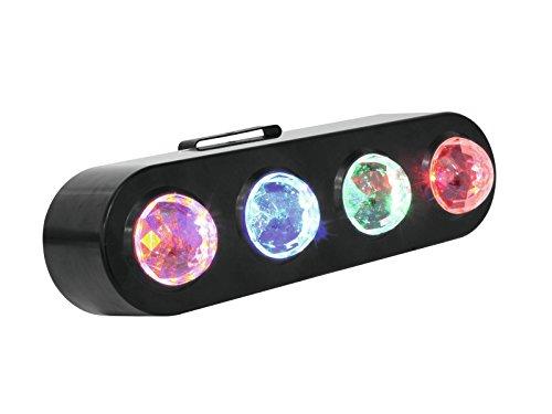 Eurolite LED CPE-4 Flowereffekt | Lichtorgel mit moderner LED Technik | Effektlicht für Partyraum, Bands, Bühnen und Alleinunterhalter | Flowereffekt für die perfekte Lichtstimmung