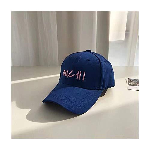 XY-hat Calentar Sombrero de Bordado Gorra de béisbol de Verano Femenino Gorra de béisbol de Estudiante Moda (Color : Blue, Size : F)