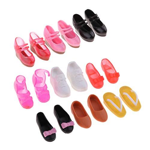 perfeclan 9 Pares De 1/6 Muñecas Zapatos Sandalias para Muñecas Blythe Accesorios De Ropa, Niños Niñas Juguete