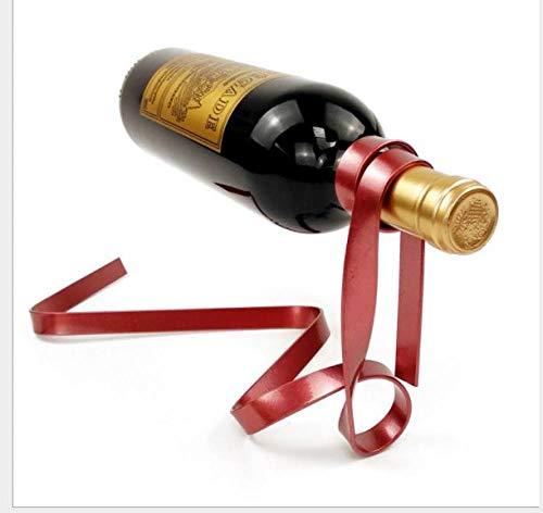 DSHRTY Botellero Cubos de Vino, refrigeradorestitularesEstante de Vino Creativo Creative Suspension Chain Bar Ktv decoración de Moda, Rojo