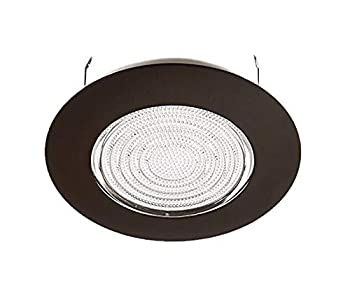 NICOR Lighting 6 inch Oil-Rubbed Bronze Recessed Shower Trim with Glass Fresnel Lens  17502OB