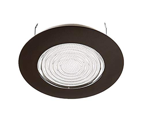 NICOR Lighting 6 inch Oil-Rubbed Bronze Recessed Shower Trim with Glass Fresnel Lens (17502OB)