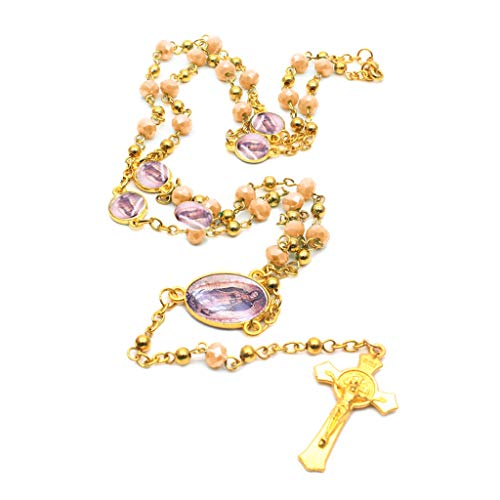 planuuik kruis hanger rozenkrans ketting christelijke religie Jezus glas kristallen ketting sieraden charme geschenken