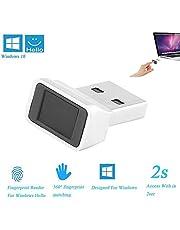 ONEVER Beveiligingssleutel Smart ID USB Vingerafdruklezer Windows 10 32/64 Bits - Beveiligingssleutel Biometrische vingerafdruksensor Dongle Module Voor Instant Touch Acess Wachtwoordvrij Inloggen/Inloggen Lock/Ontgrendelen PC Laptop